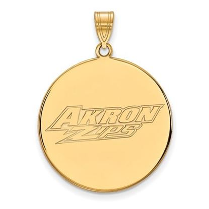 Picture of University of Akron Zips Sterling Silver Gold Plated Extra Large Disc Pendant