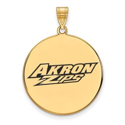 Picture of University of Akron Zips Sterling Silver Gold Plated Extra Large Enameled Disc Pendant