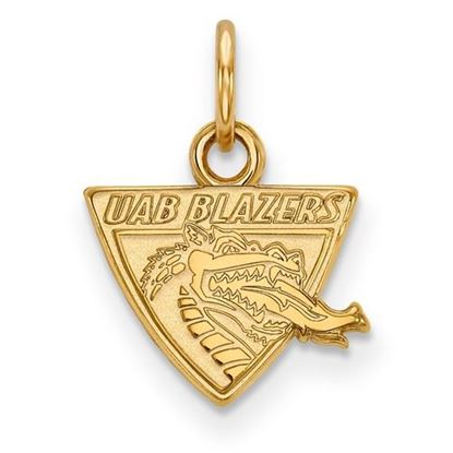 Picture of University of Alabama at Birmingham Blazers 10k Yellow Gold Extra Small Pendant
