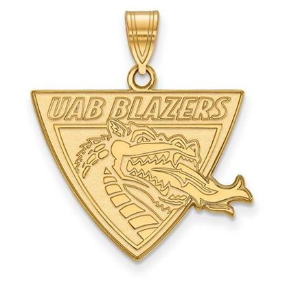 Picture of University of Alabama at Birmingham Blazers 14k Yellow Gold Large Pendant