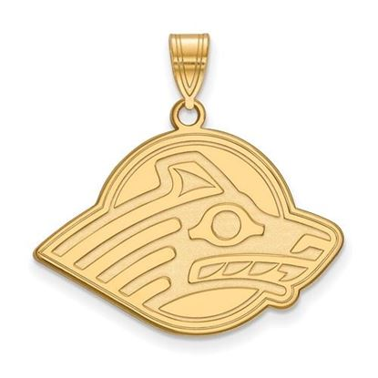 Picture of University of Alaska Seawolves Sterling Silver Gold Plated Large Pendant