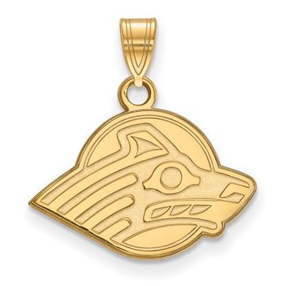 Picture of University of Alaska Seawolves Sterling Silver Gold Plated Small Pendant