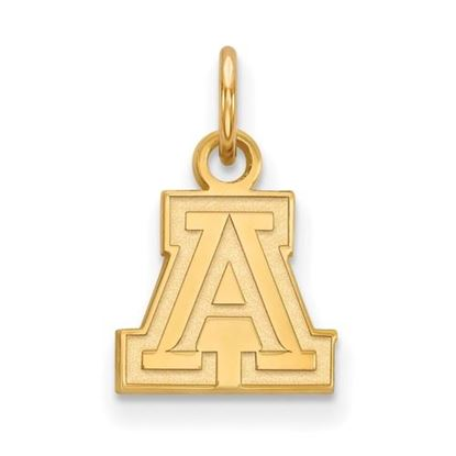 Picture of University of Arizona Wildcats Sterling Silver Gold Plated Extra Small Pendant
