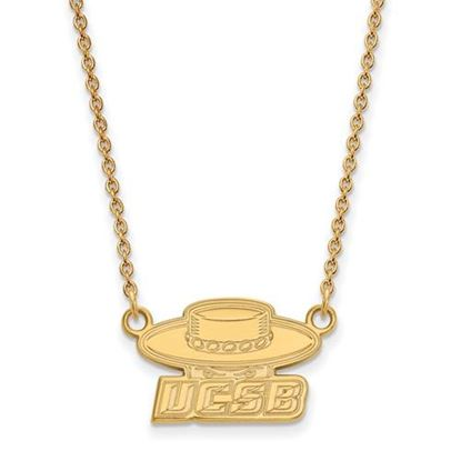 Picture of University of California Santa Barbara Gauchos 10k Yellow Gold Small Necklace