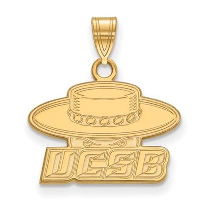 Picture of University of California Santa Barbara Gauchos Sterling Silver Gold Plated Small Pendant