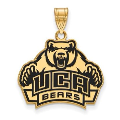 Picture of University of Central Arkansas Bears Sterling Silver Gold Plated Large Enameled Pendant