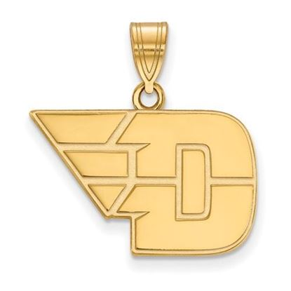 Picture of University of Dayton Flyers Sterling Silver Gold Plated Medium Pendant