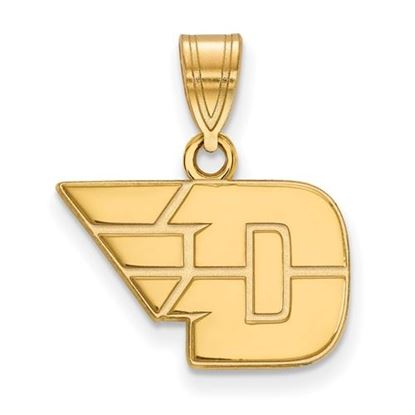 Picture of University of Dayton Flyers Sterling Silver Gold Plated Small Pendant