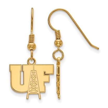 Picture of University of Findlay Oilers Sterling Silver Gold Plated Small Dangle Earrings