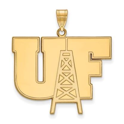 Picture of University of Findlay Oilers 10k Yellow Gold Extra Large Pendant