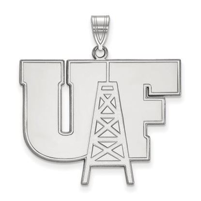 Picture of University of Findlay Oilers 14k White Gold Extra Large Pendant