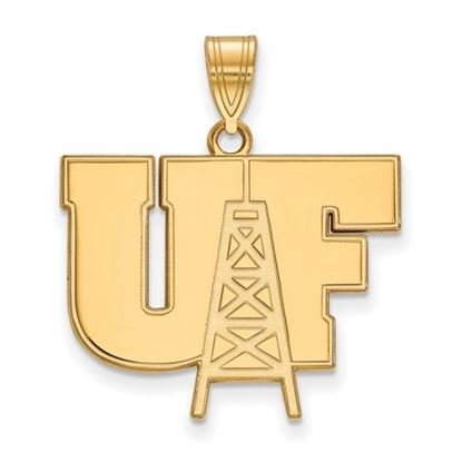 Picture of University of Findlay Oilers Sterling Silver Gold Plated Large Pendant
