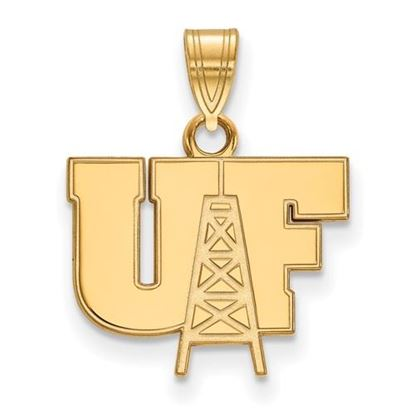 Picture of University of Findlay Oilers Sterling Silver Gold Plated Small Pendant