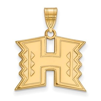 Picture of University of Hawaii Rainbow Warriors Sterling Silver Gold Plated Medium Pendant