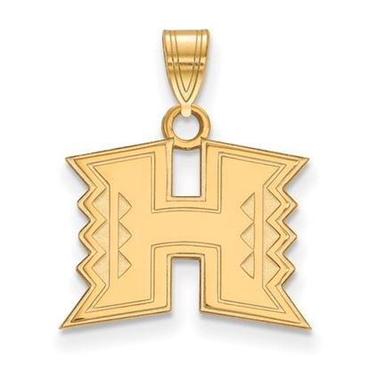 Picture of University of Hawaii Rainbow Warriors Sterling Silver Gold Plated Small Pendant