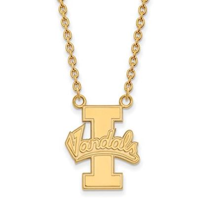 Picture of University of Idaho Vandals 10k Yellow Gold Large Necklace
