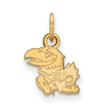 Picture of University of Kansas Jayhawks Sterling Silver Gold Plated Extra Small Pendant