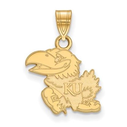 Picture of University of Kansas Jayhawks Sterling Silver Gold Plated Small Pendant