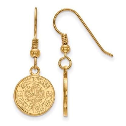Picture of University of Louisiana at Lafayette Ragin' Cajuns Sterling Silver Gold Plated Small Dangle Earrings