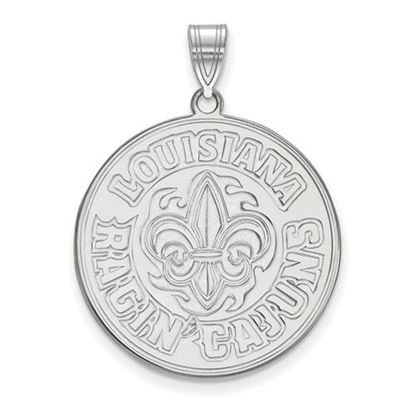 Picture of University of Louisiana at Lafayette Ragin' Cajuns 10k White Gold Extra Large Pendant