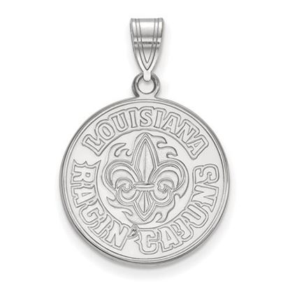 Picture of University of Louisiana at Lafayette Ragin' Cajuns 10k White Gold Large Pendant