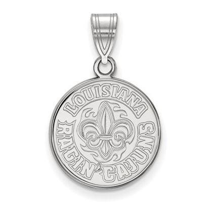 Picture of University of Louisiana at Lafayette Ragin' Cajuns 10k White Gold Medium Pendant