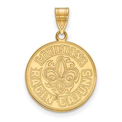 Picture of University of Louisiana at Lafayette Ragin' Cajuns 10k Yellow Gold Large Pendant