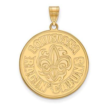 Picture of University of Louisiana at Lafayette Ragin' Cajuns 14k Yellow Gold Extra Large Pendant