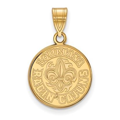 Picture of University of Louisiana at Lafayette Ragin' Cajuns 14k Yellow Gold Medium Pendant