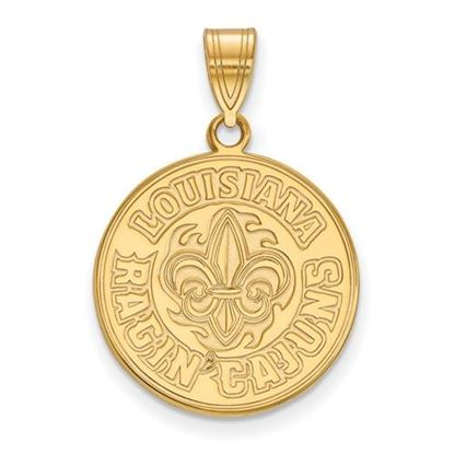 Picture of University of Louisiana at Lafayette Ragin' Cajuns Sterling Silver Gold Plated Large Pendant