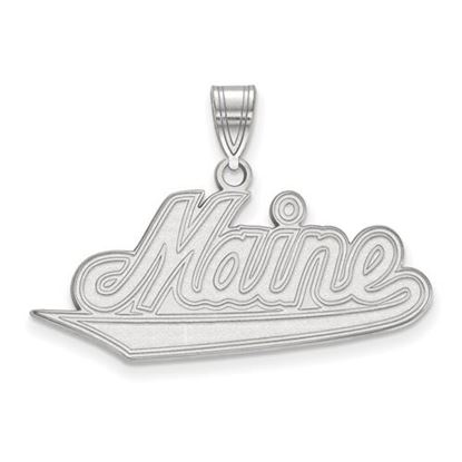 Picture of University of Maine Black Bears 10k White Gold Large Pendant