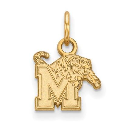 Picture of University of Memphis Tigers Sterling Silver Gold Plated Extra Small Pendant