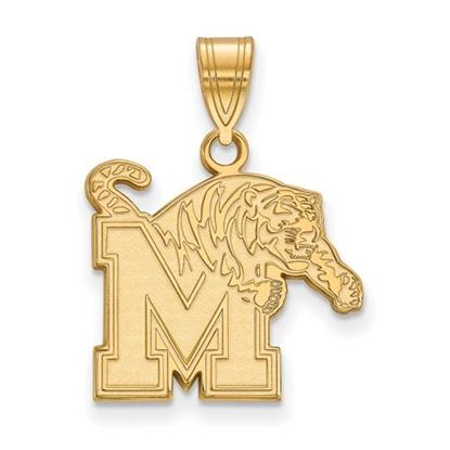 Picture of University of Memphis Tigers Sterling Silver Gold Plated Medium Pendant
