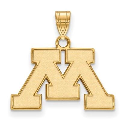Picture of University of Minnesota Golden Gophers Sterling Silver Gold Plated Small Pendant