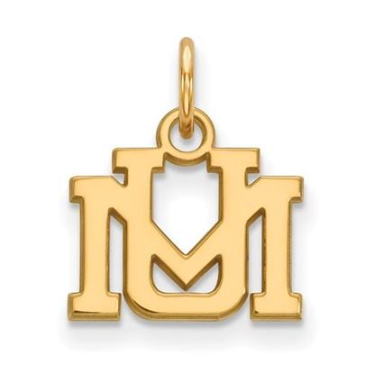 Picture of University of Montana Grizzlies Sterling Silver Gold Plated Extra Small Pendant