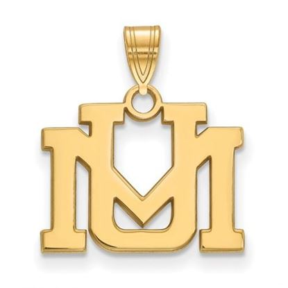 Picture of University of Montana Grizzlies Sterling Silver Gold Plated Small Pendant