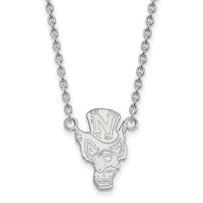 Picture of University of Nevada Wolf Pack 10k White Gold Large Necklace