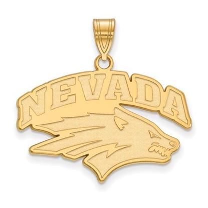 Picture of University of Nevada Wolfpack Sterling Silver Gold Plated Large Pendant