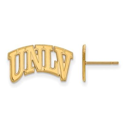 Picture of University of Nevada Las Vegas Rebels 14k Yellow Gold Small Post Earrings