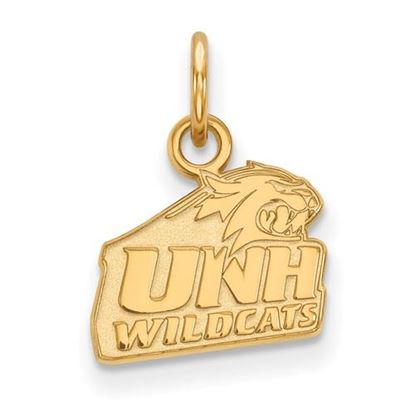 Picture of University of New Hampshire Wildcats Sterling Silver Gold Plated Extra Small Pendant