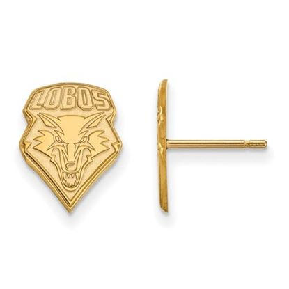 Picture of University of New Mexico Lobos Sterling Silver Gold Plated Small Post Earrings