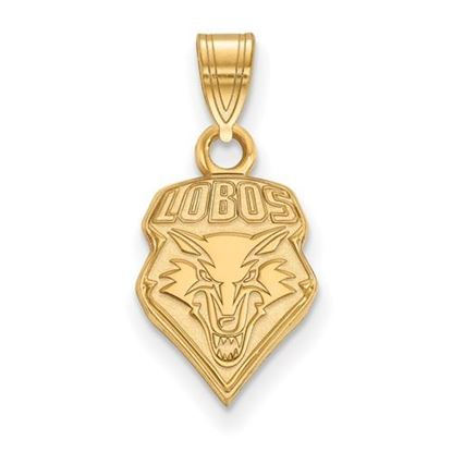 Picture of University of New Mexico Lobos 10k Yellow Gold Small Pendant