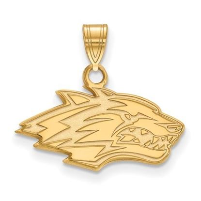 Picture of University of New Mexico Lobos Sterling Silver Gold Plated Small Pendant