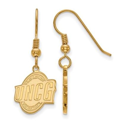 Picture of University of North Carolina at Greensboro Spartans Sterling Silver Gold Plated Small Dangle Earrings