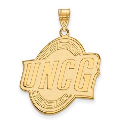 Picture of University of North Carolina at Greensboro Spartans 10k Yellow Gold Extra Large Pendant