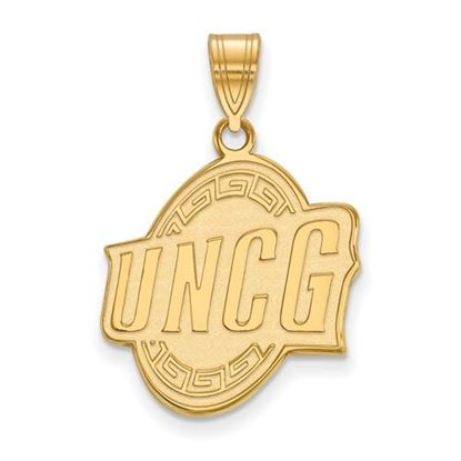 Picture of University of North Carolina at Greensboro Spartans Sterling Silver Gold Plated Large Pendant