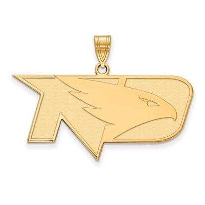 Picture of University of North Dakota Fighting Hawks Sterling Silver Gold Plated Large Pendant