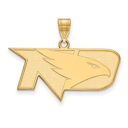 Picture of University of North Dakota Fighting Hawks Sterling Silver Gold Plated Medium Pendant