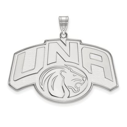 Picture of University of Northern Alabama Lions 10k White Gold Extra Large Pendant