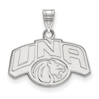 Picture of University of Northern Alabama Lions 10k White Gold Small Pendant